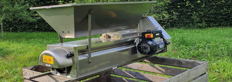 Drueafstilker med motor, komplet rustfri, inklusiv afskærmning i rustfrit stål - ingen plastskærme.